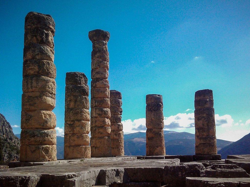 Le temple de Delphes